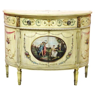 Adams Style Demilune Commode