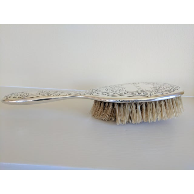 Gorham Sterling Silver Monogrammed Hairbrush - Image 3 of 8