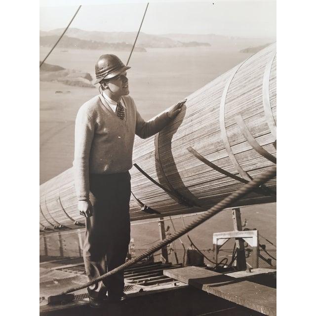 Image of Vintage Photo Golden Gate Bridge Construction