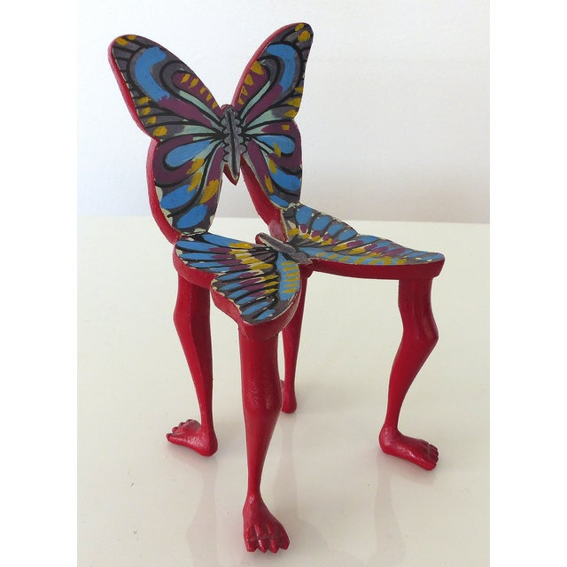 Image of Pedro Friedeberg Butterfly Mini-Chair Sculpture