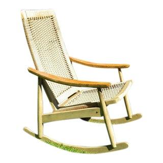 Hans Wegner Style Vintage Mid-Century Danish Rocking Chair