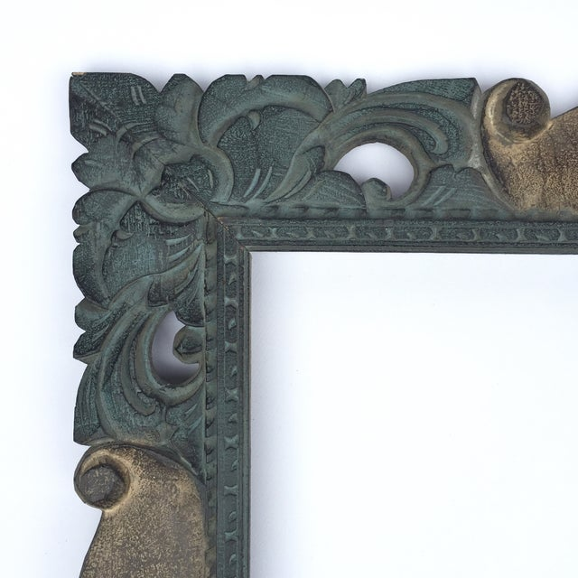 East Asian Hand Carved Mirror Frame - Image 3 of 5