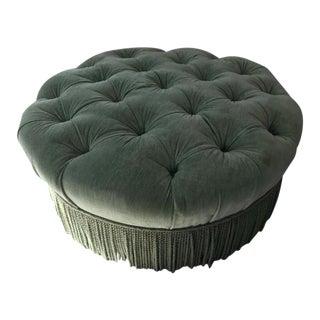 Modern Olive Upholstered Ottoman