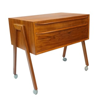 Danish Modern Sewing Table / Side Table