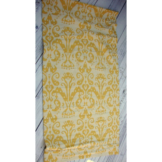 Set of 4 Custom Yellow Gold Cream Ikat Shades - Image 5 of 10