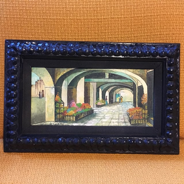 Mid-Century Painting W/ Ornate Frame - Image 2 of 6
