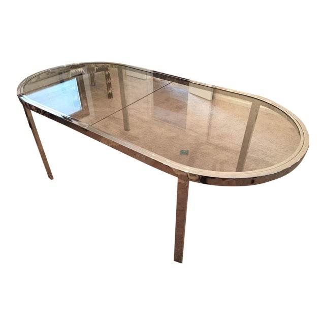 Milo Baughman for Design Institute of America Chrome Dining Table - Image 1 of 10