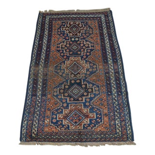 "Antique Qashqai Persian Rug - 2'5"" x 4'"