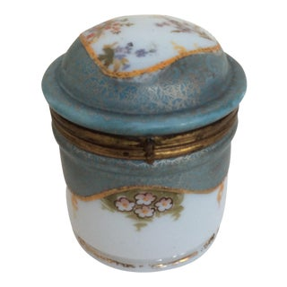 Art Nouveau Painted Glass Lidded Jar, Circa 1900