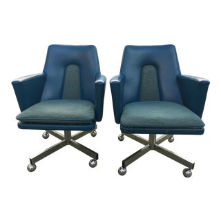 Mid-Century Modern Swivel Chairs - A Pair