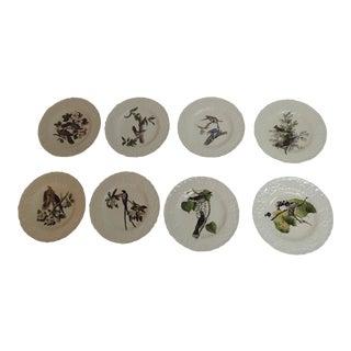 Vintage Porcelain Dessert Plates - Set of 8