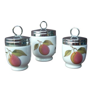 Royal Worcester Egg Coddlers - Set of 3