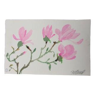 """Pink Magnolia 2"" Original Watercolor"