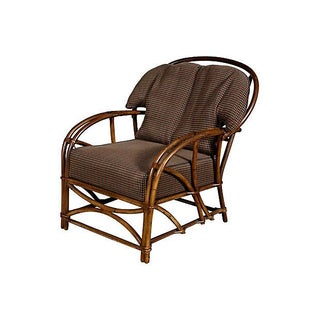 1950's Rattan Lounge Chair