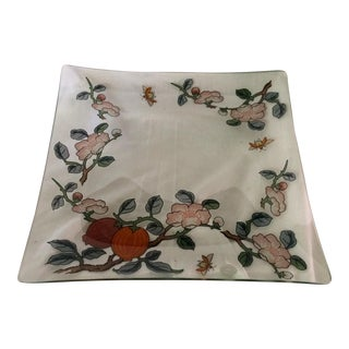 Rare Vintage Dorothy Thorpe Vine & Bee Glass Serving Platter