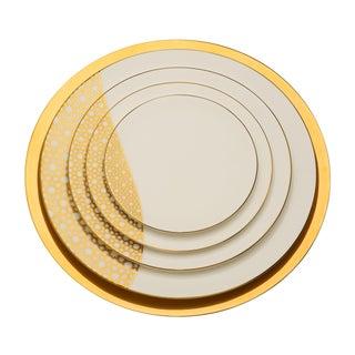 Dinner Plates, Arabesque Gold - Set of 5