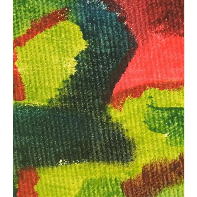 Vintage 1975 Original Abstract Painting - Image 3 of 3