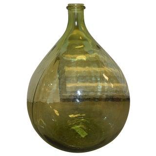 Round Green Jar