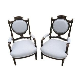 Antique Italian Armchairs - A Pair