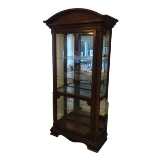 Cherry Crystal Display Cabinet