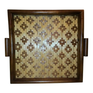 Vintage Weaved Bamboo Tray
