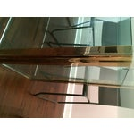 Image of Large Pace Collection Glass & Brass Dining Table