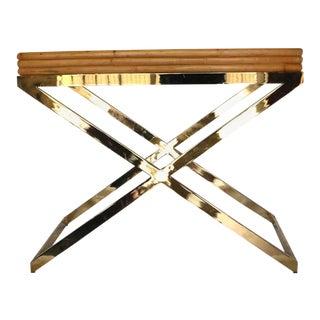 Milo Baughman Bamboo & Brass