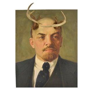 Altered Oil Painting of Vladimir Lenin