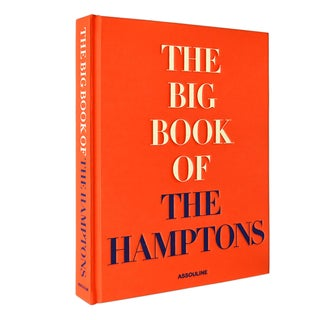 "Assouline's ""The Big Book of the Hamptons"" Large Fabric-Covered & Embossed Coffee Table Book"