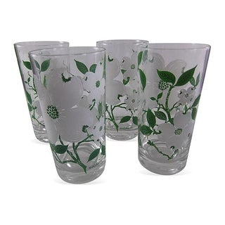 Mid-Century Culver Dogwood Highballs - Set of 4