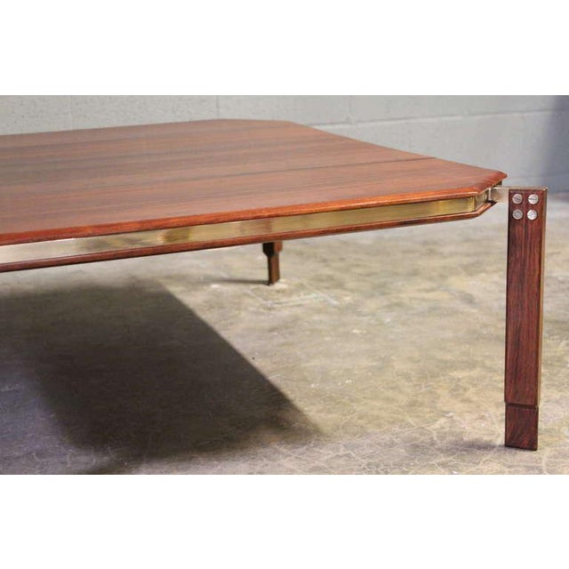 Rosewood and Brass Coffee Table - Image 8 of 10