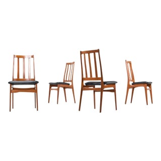 4 Recovered Teak Dining Chairs