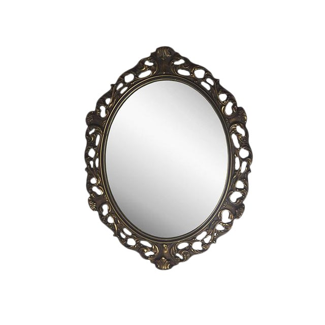 1940s Rococo Hand Carved Wooden Mirror - Image 1 of 5