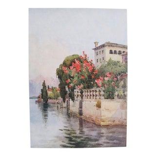 1905 Ella du Cane Print, Oleanders, Lago D'Orta