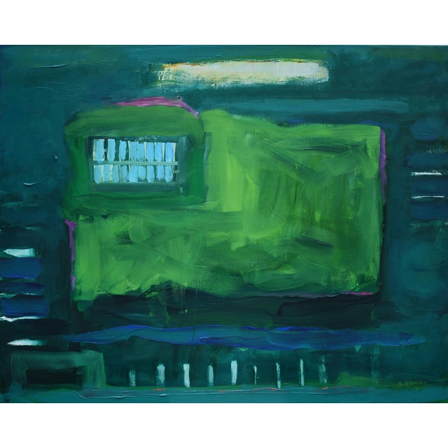 "Stephen Remick ""Garden Party, Waning"" Abstract Painting - Image 1 of 8"