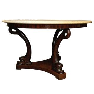 19th Century Dolphin-Base Center Table