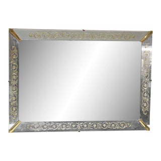 Venetian Mirror With Gold Floral Details