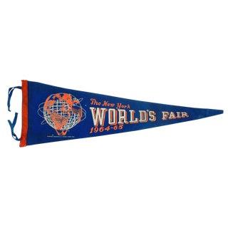 1960s Worlds Fair Pennant