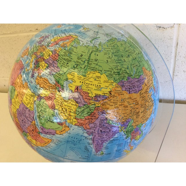 Globemaster 12 Inch World Globe With Acrylic Stand - Image 3 of 4