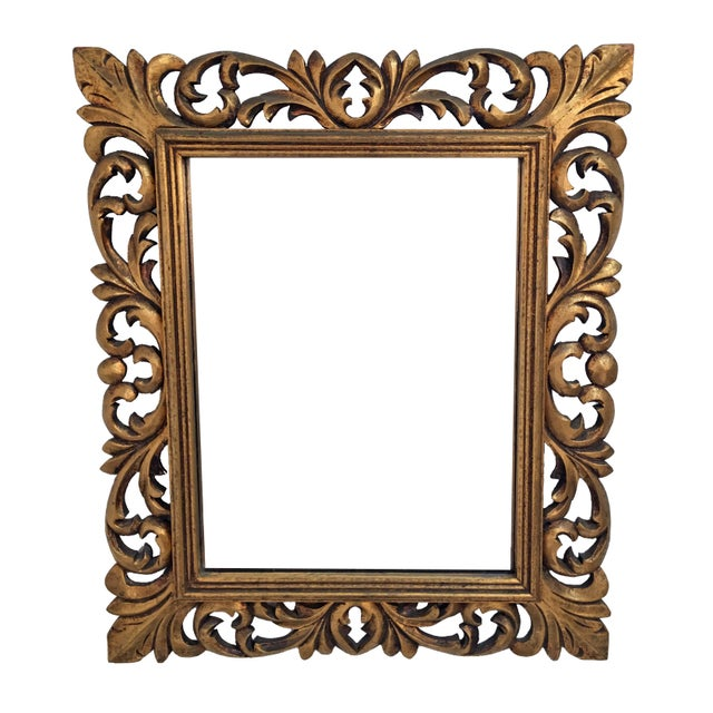 Italian Carved Wood & Gilt Mirror - Image 2 of 7