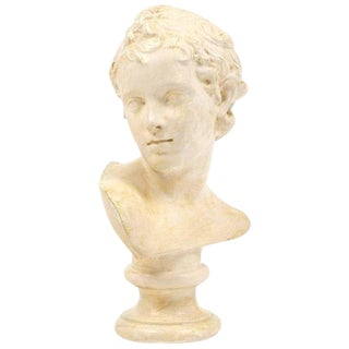 "Antique Bust of ""Adonis Enfant"" after Jean-François Houdon"