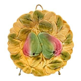 Antique Sarruguemines Majolica Pear Plate
