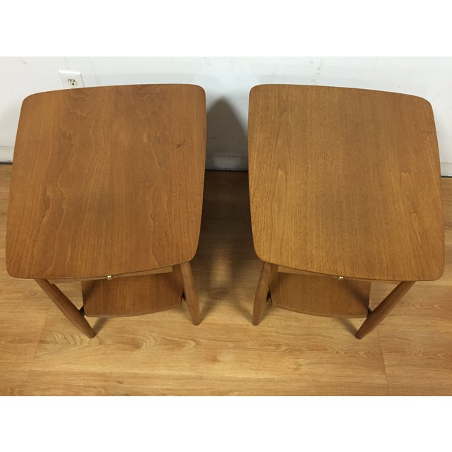 Bleached Walnut End Tables - A Pair - Image 3 of 5