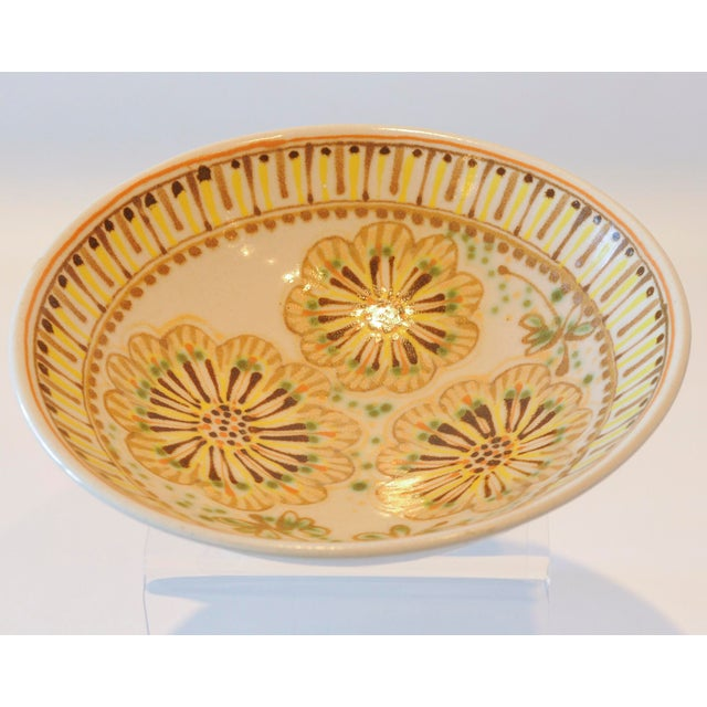 Mid-Century Janet Rothman Floral Bowl - Image 8 of 11