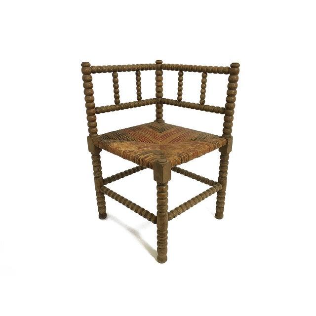 bobbin corner chair chairish