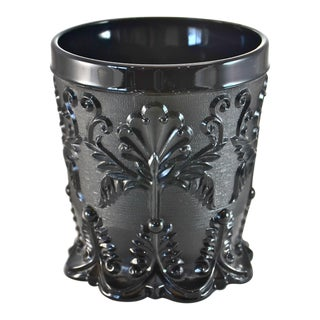 Opaque Black Glass Vase