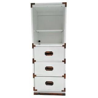 Vintage Campaign White Dresser
