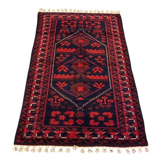 Antique Anatolian Bergama Wool Rug - 4'x6'