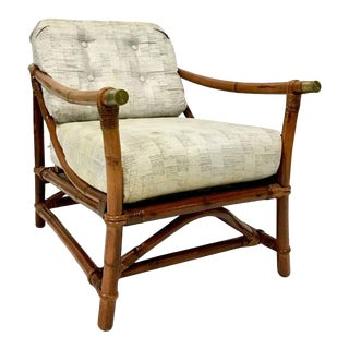 Ficks Reed Campaign Style Reclining Armchair, 1940s