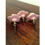 Image of Ceramic Pink Roses/Knobs - Set of 3